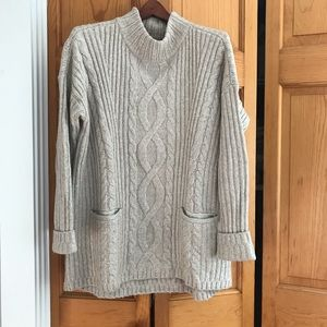 Abercrombie Mockneck Cable Knit Sweater